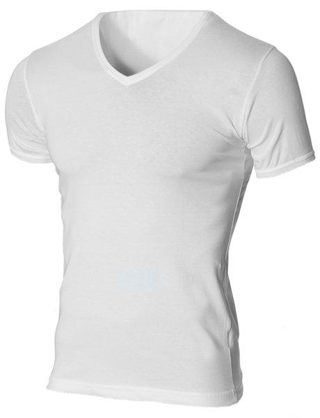 Мъжка бяла изчистена вталена тениска