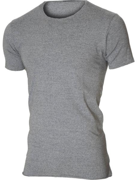 Мъжка асиметрична тениска сив меланж