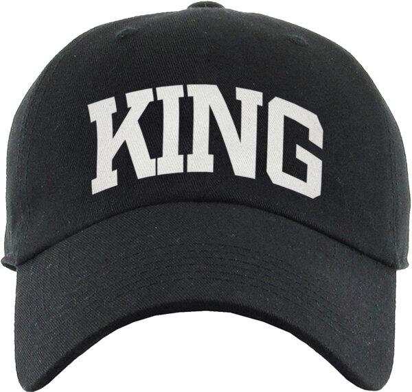 """Унисекс черна шапка с козирка и щампа """"KING"""""""