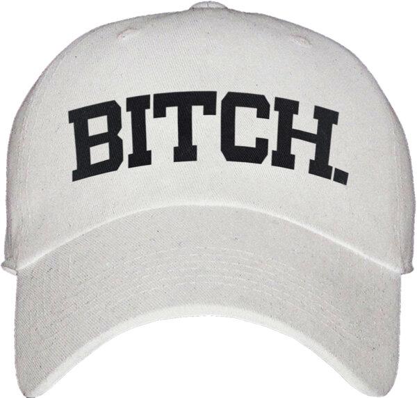 """Унисекс бяла шапка с козирка и щампа """"BIT+H"""""""
