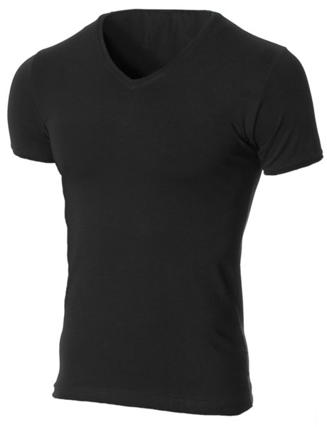 Мъжка черна изчистена вталена тениска