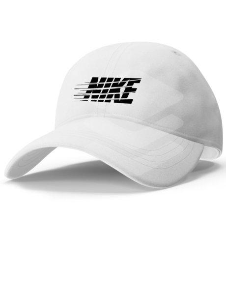 "Унисекс бяла шапка с козирка и щампа ""NIKE 2"""