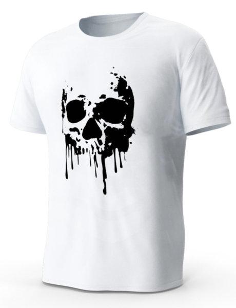 """Мъжка бяла тениска с щампа """"Skull #3"""""""