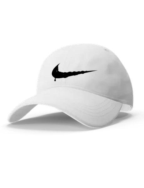"Унисекс бяла шапка с козирка и щампа ""NIKE 4"""