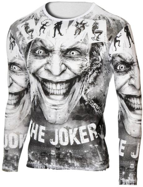 """Мъжка бяла блуза с обло деколте и щампа """"Joker"""""""