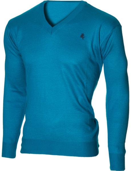 Мъжки светлосин пуловер с V деколте (Универсален размер)