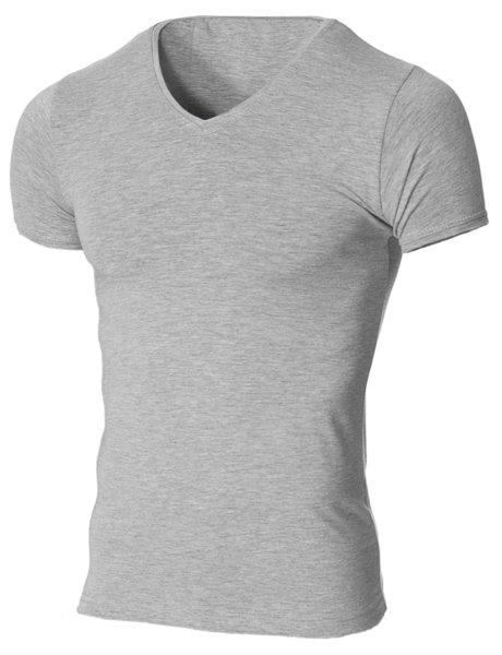 Мъжка светлосива изчистена вталена тениска