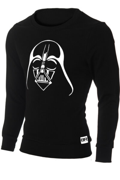 """Мъжка лимитирана вталена черна блуза с щампа """"Darth Vader"""""""