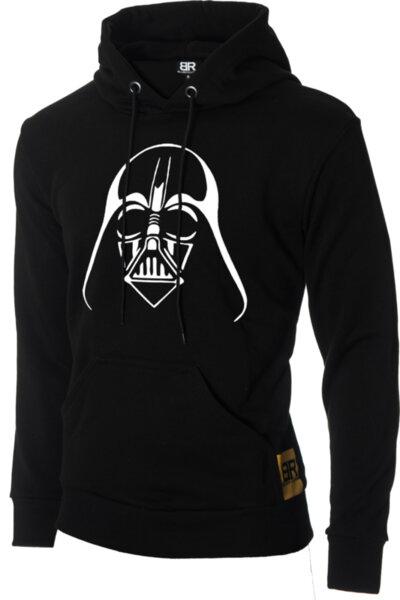 """Мъжки лимитиран ватиран черен суичър с щампа """"Darth Vader"""""""