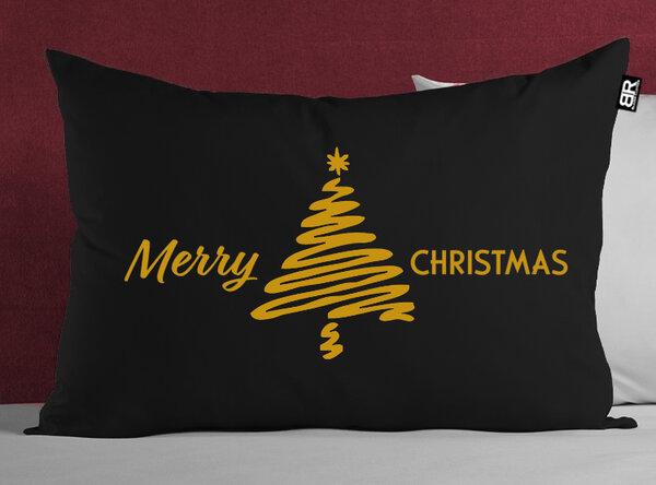Коледна черна/червена калъфка с щампа Christmas Tree от Blazer Clothes