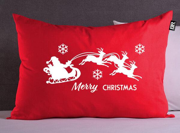 Коледна червена калъфка с щампа Santa Claus от Blazer Clothes