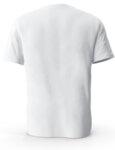 Мъжка бяла изчистена тениска с обло деколте