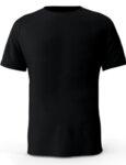 Мъжка черна изчистена тениска с обло деколте