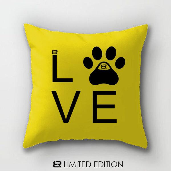 "Калъфка или възглавница Blazer Home с щампа ""Dog Love"""