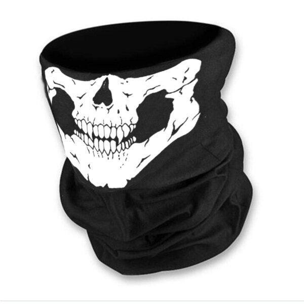 Маска за лице в черен цвят с бял череп от Blazer Clothes