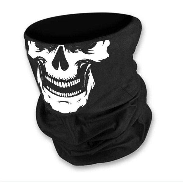 Маска за лице в черен цвят с бял череп-2 от Blazer Clothes