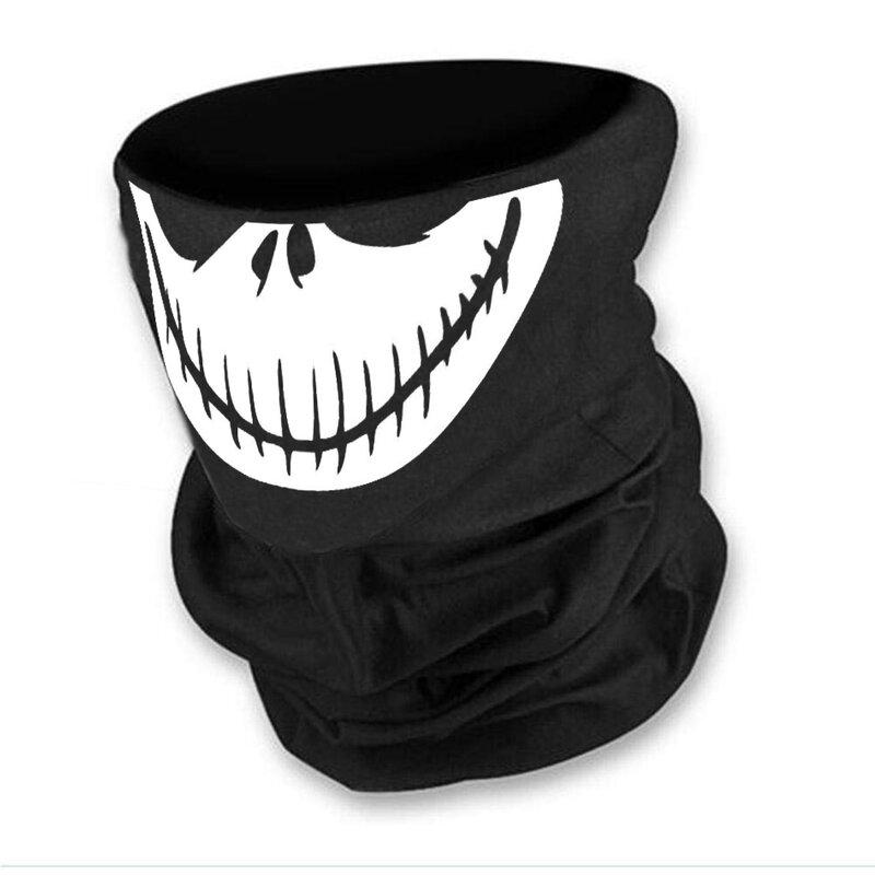 Маска за лице в черен цвят с бял череп от Blazer Clothes-Copy