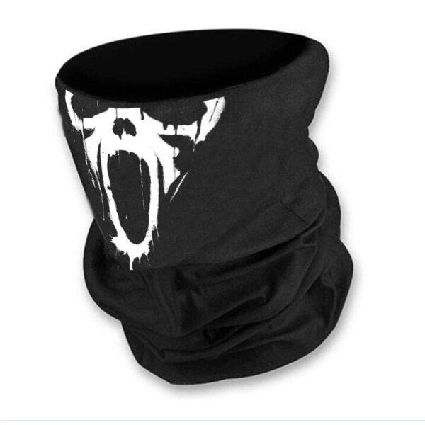 Маска за лице в черен цвят с Писък-Scream от Blazer Clothes