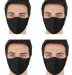 10бр. маски за лице в черен цвят за многократна употреба + 1 ПОДАРЪК-