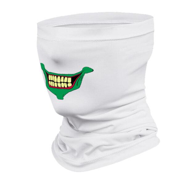 Маска за лице в бял цвят с щампа зелена уста от Blazer Clothes