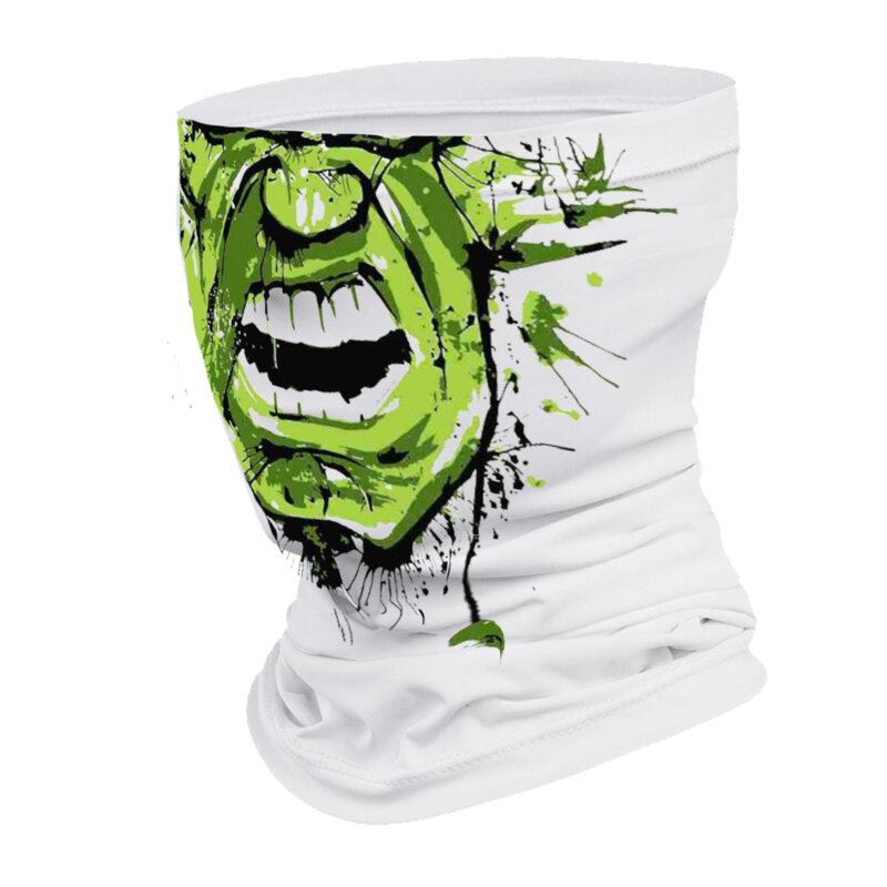 Маска за лице в бял цвят с щампа уста от Blazer Clothes-Copy