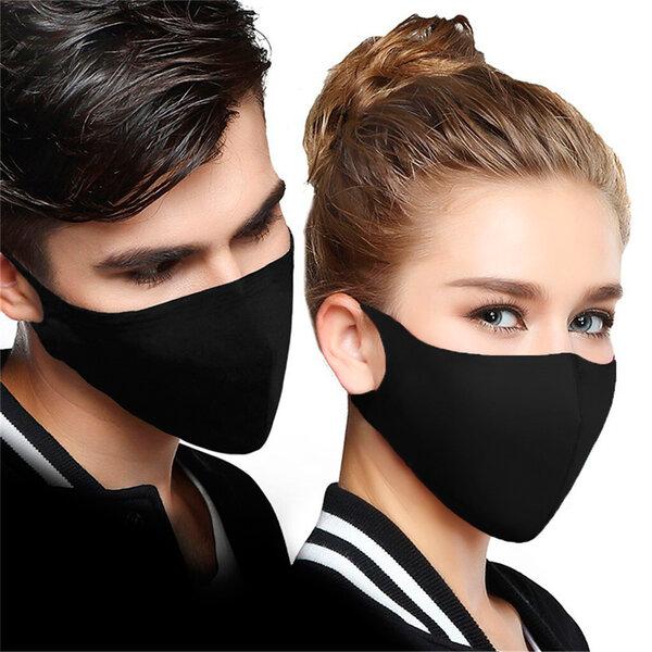 Неопренова еднопластова черна маска за лице за многократна употреба