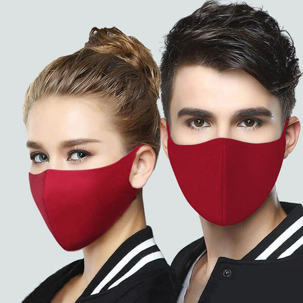 Неопренова еднопластова бордо маска за лице за многократна употреба