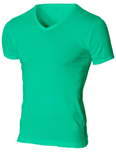 Мъжка светлозелена изчистена вталена тениска