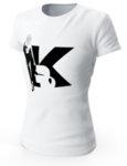 """Дамска бяла тениска с щампа """"K lady"""""""