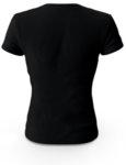 """Дамска черна тениска с щампа """"love"""""""
