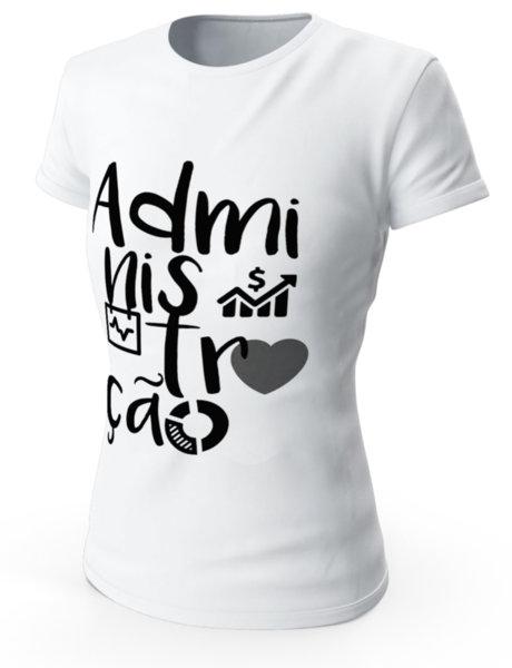 """Дамска бяла тениска с щампа """"Adminis"""""""