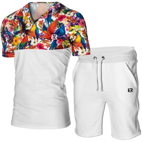 """Мъжки летен двуцветен екип """"Michael"""" принт Рио от Blazer Clothes"""