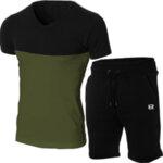 """Мъжки летен двуцветен екип """"Michael"""" черен/бордо от Blazer Clothes-Copy"""