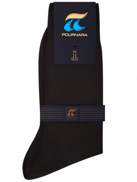POURNARA черни мъжки чорапи от мерсеризиран памук, 147