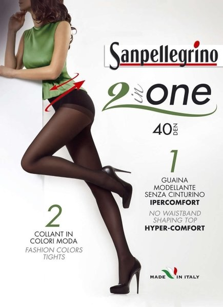 SANPELLEGRINO чорапогащи 2 in ONE, 40 DEN - SPC00240