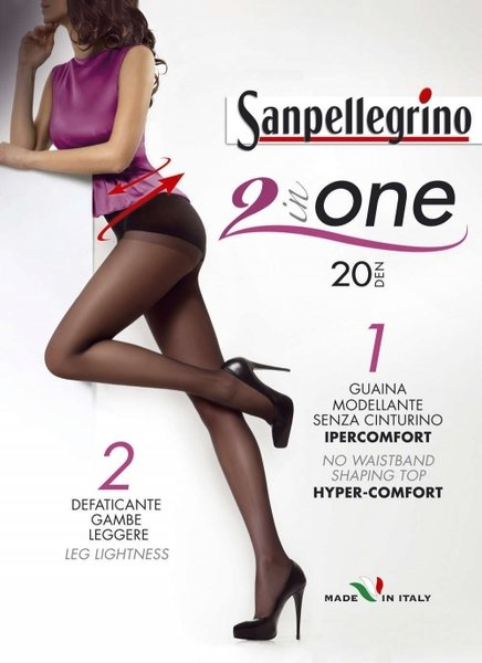 SANPELLEGRINO чорапогащи 2 in ONE, 20 DEN - SPC00239