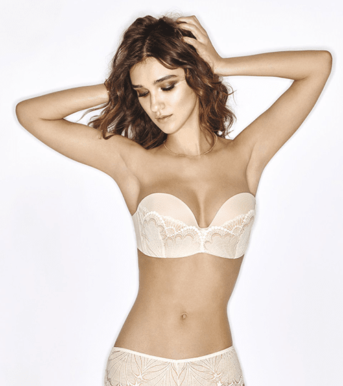 WONDERBRA Ultimate Strapless сутиен с дантела, W031U