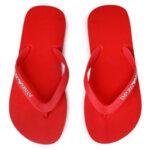 Emporio Armani  -  Дамски чехли, X3QS04 flame red-Copy