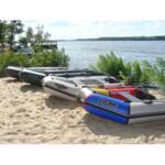 Надуваема моторна лодка с кил Kolibri KM-450DSL
