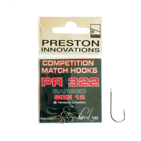 Куки Preston COMPETITION MATCH BARBED - PR 322