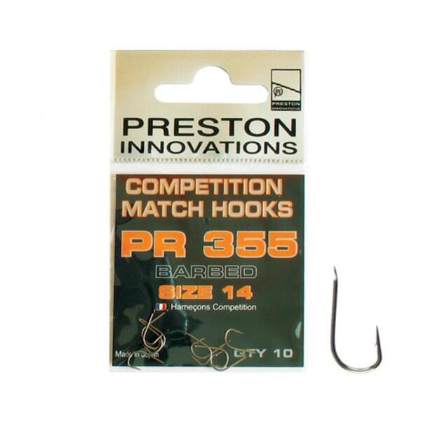 Куки Preston COMPETITION MATCH BARBED - PR 355