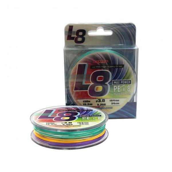 Плетено влакно Lazer L8 Multicolor - 300м