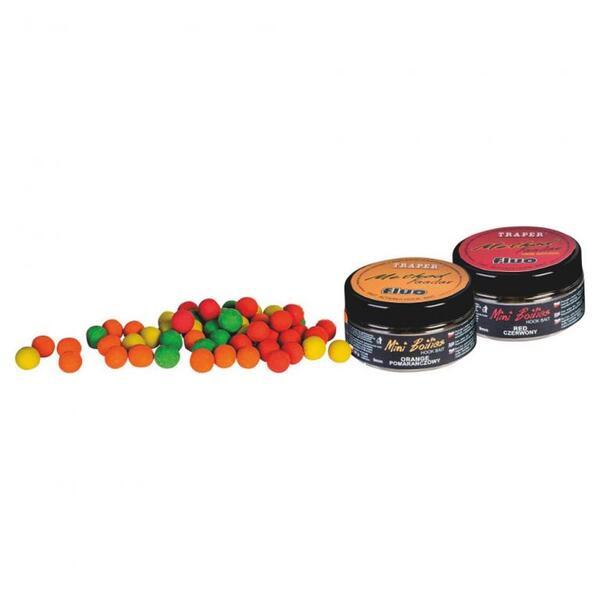 Протеинови топчета Traper METHOD FEEDER FLUO - 9мм, 50г