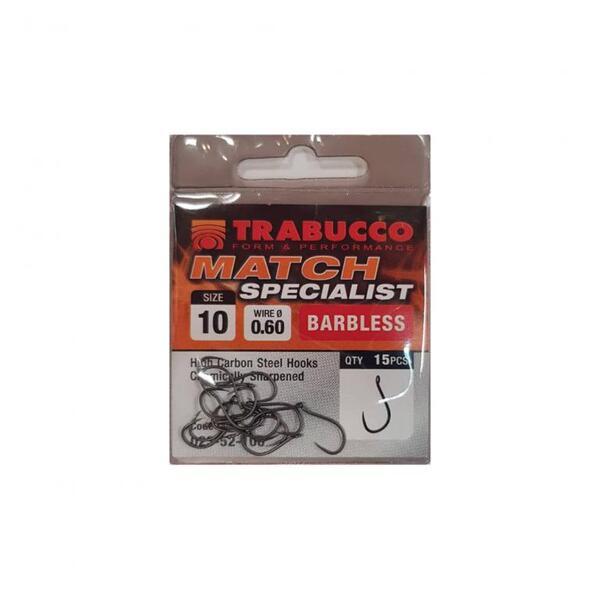 Куки Trabucco MATCH SPECIALIST Barbless