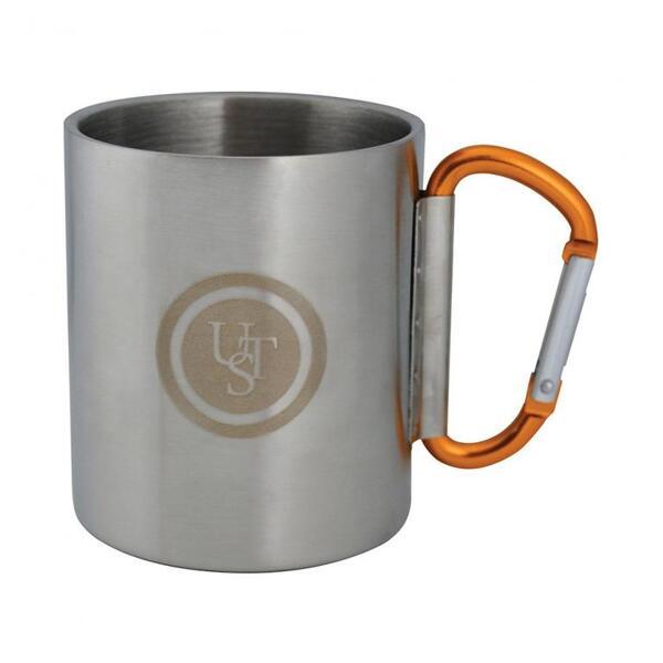 Метална чаша с карабинер UST 270 мл