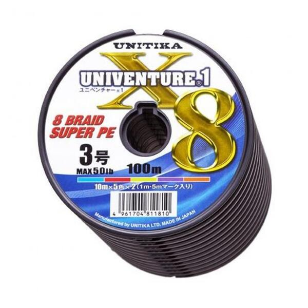 Плетено влакно Unitika UNIVENTURE X8 -100м