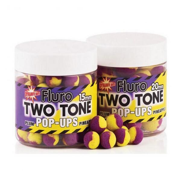 Плаващи протеинови топчета Dynamite Baits TWO TONE - PLUM & PINEAPPLE