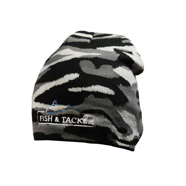 Зимна шапка Fish&Tackle 7134 - Camouflage (graphite/light-grey)