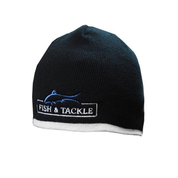 Зимна шапка Fish&Tackle 7584 - плетена с кант (black/white)