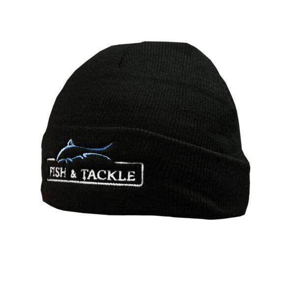Зимна шапка Fish&Tackle 7500 BLACK KNITED